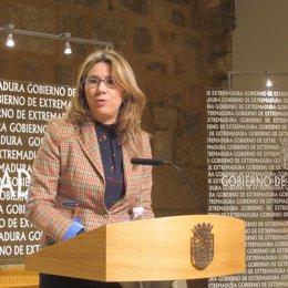 Vicepresidenta y Portavoz del Gobierno de Extremadura, Cristina Teniente