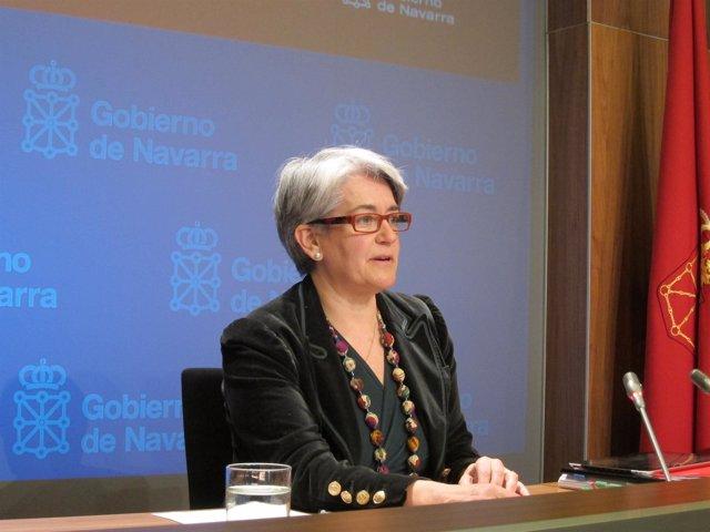 La consejera Lourdes Goicoechea.