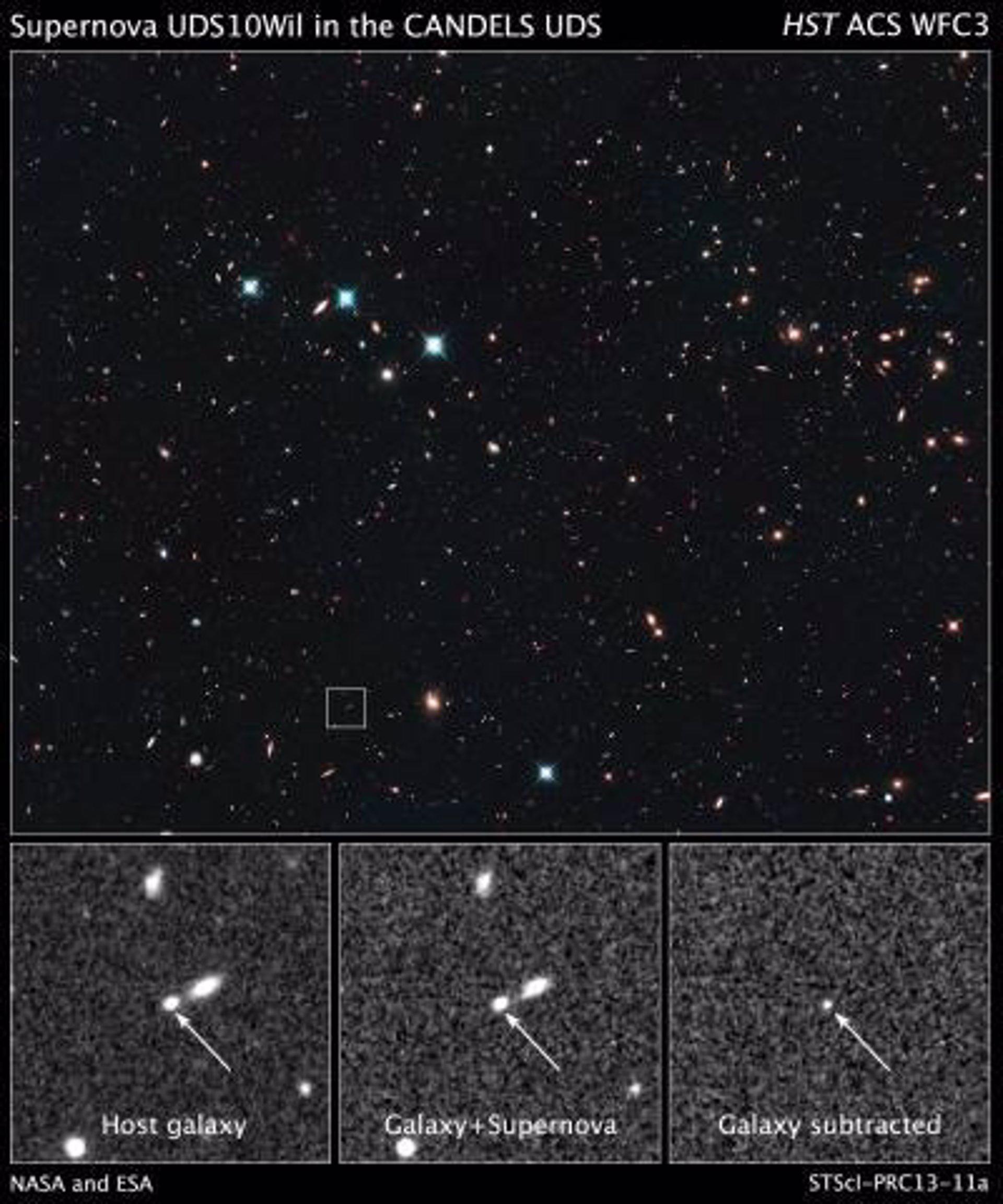 Hubble encuentra la supernova más distante