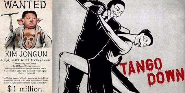Imágenes que publicó Anonymous en cuentas  norcoreanas de Flickr y Twitter