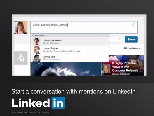 LinkedIn menciones