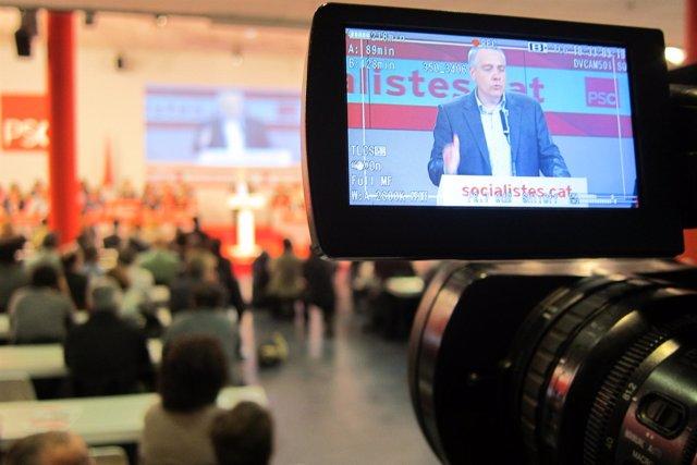 Pere Navarro PSC durante su informa político