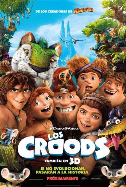 Consigue un pack de merchandising de la película Los Croods con Hacer Familia