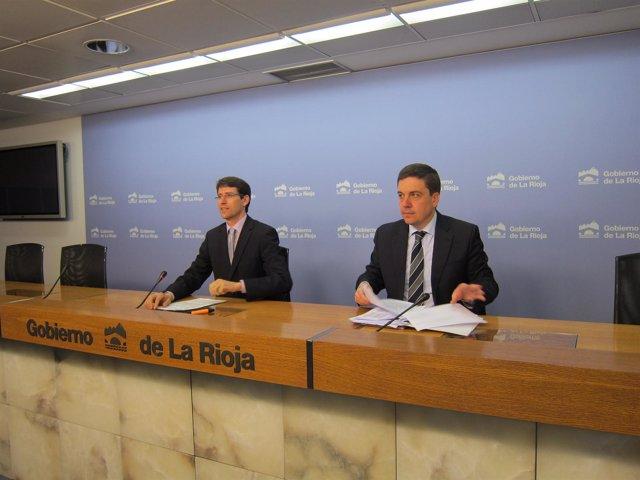 El consejero de Educación, Gonzalo Capellán, y el subdirector general de Persona