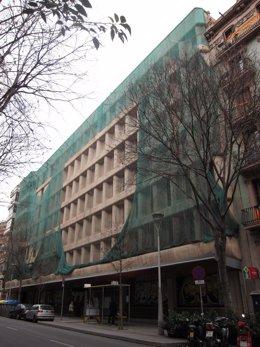 Antigua sede de la Once en el número 66 de la calle Calàbria de Barcelona