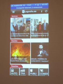 Imagen de la aplicación para móviles 'Logroño.Es'