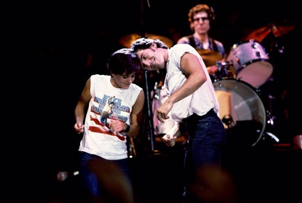 Bruce Springsteen y Courtney Cox