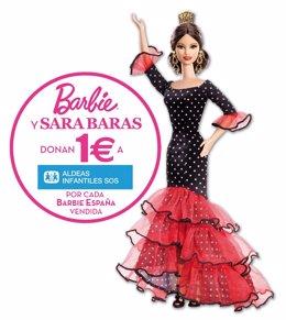 Mattel y Sara Baras colaboran con Aldeas Infantiles SOS con la muñeca Barbie Esp