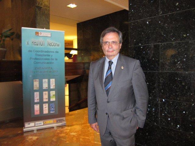El director de la ONT, Rafael Matesanz, en su visita a Zaragoza