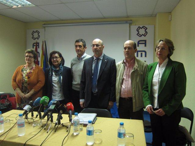 Sindicatos de la Mesa Sectorial de Sanidad en Madrid