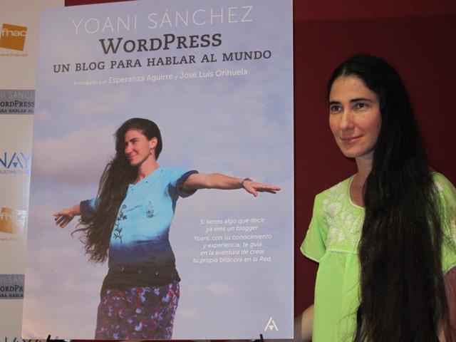 La bloguera cubana Yoani Sánchez, de visita en Madrid