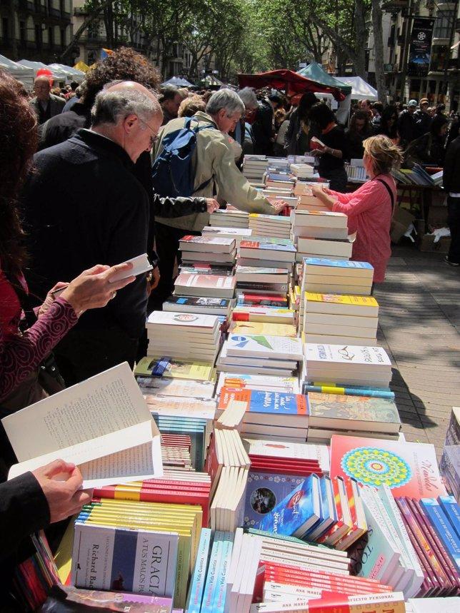 Parada, Libros, Sant Jordi, La Rambla