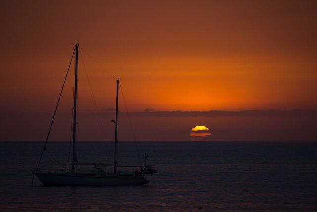 Puesta de sol en el sur de Gran Canaria