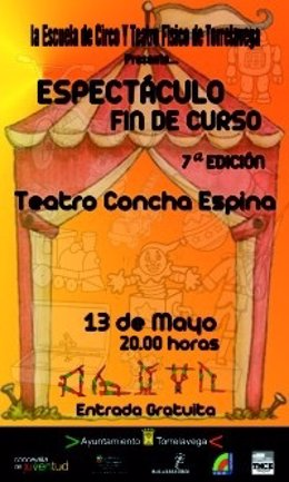 Cartel Anunciador De Escuela De Circo