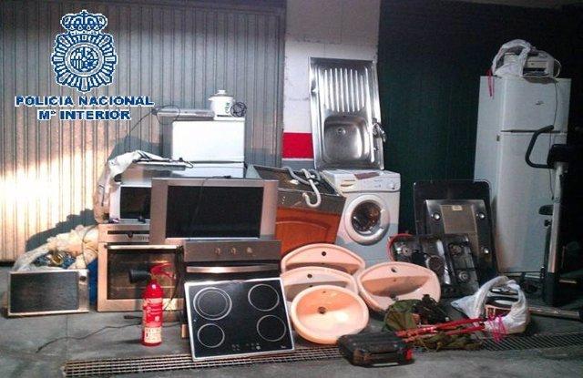 Electrodomésticos robados