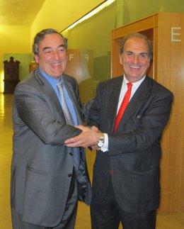 Joan Rosell y Joaquim Gay de Montellà