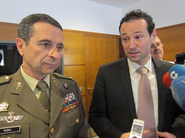 Muro (izquierda) y Martínez, en declaraciones a los medios.