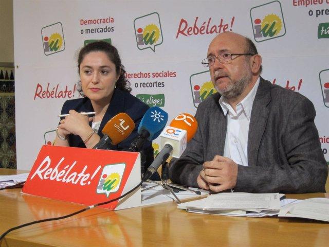 Inmaculada Nieto e Ignacio García, parlamentarios andaluces de IULV-CA