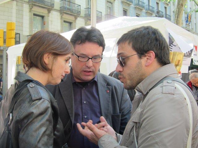 Dolors Camats (ICV) y Joan Josep Nuet (EUiA)