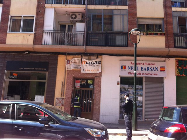 Piso del islamista detenido en Zaragoza registrado por la Policía