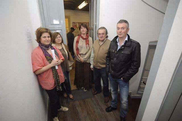 Representantes de los sindicatos del Gobierno de Cantabria
