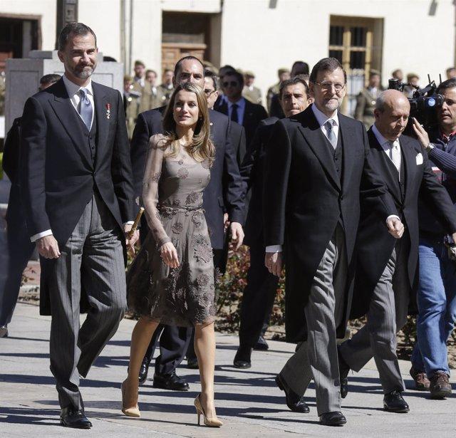 Príncipes, Rajoy y Wert premio Cervantes