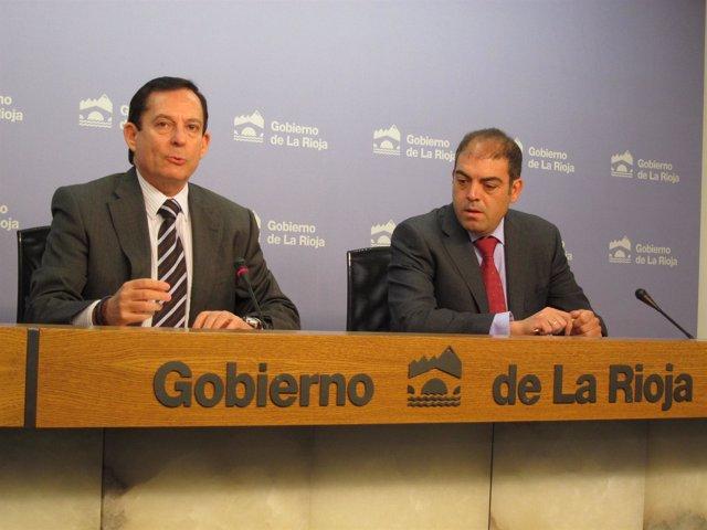 Erro y Lorenzo Amor, presidente de ATA en rueda de prensa