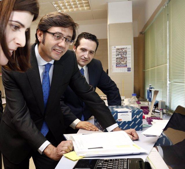 Romaní visita la empresa tecnológica Probiovet en Ciudad Real Foto Juan Echagüe/