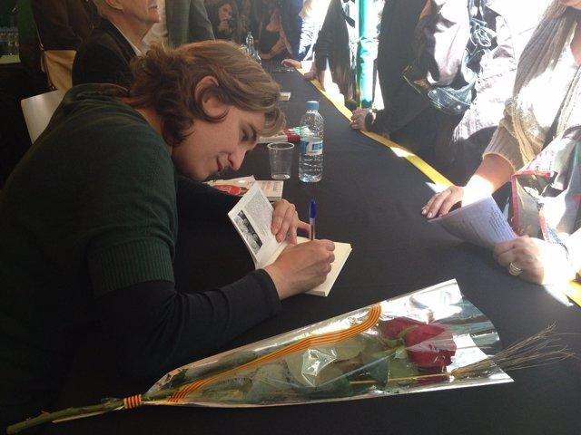 La portavoz de la PAH, Ada Colau, en Sant Jordi