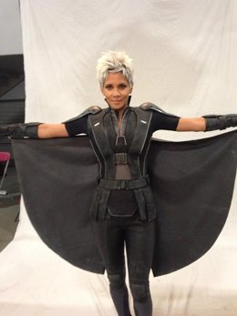 Halle Berry en el rodaje de X-Men: Days of Future Past