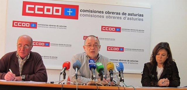 Los Responsables Sindicales En Rueda De Prensa