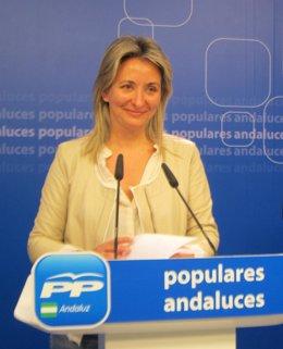 La coordinadora de política municipal del PP-A, Carolina González Vigo, hoy