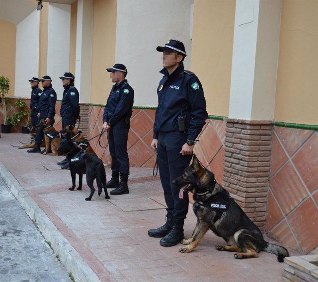 Perros policía málaga
