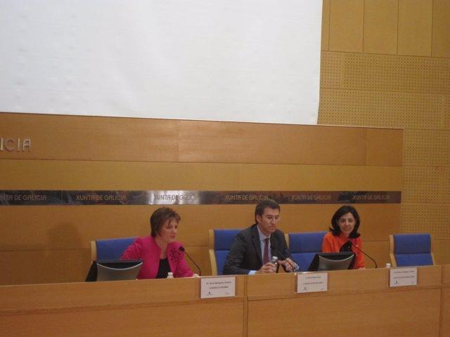 Alberto Núñez Feijóo y Rocío Mosquera