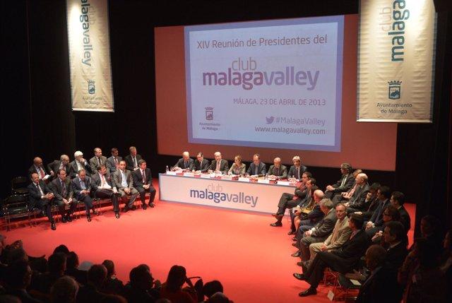 La ministra de Fomento asiste a la reunión del Club Málaga Valley