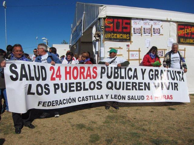 Vecinos de Las Arribes se manifiestan en Villalar