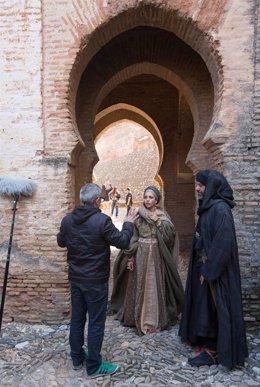 Rodaje de la serie 'Isabel' en la Alhambra