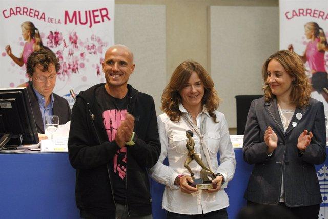 Chema Martínez en la presentación de la Carrera de la Mujer de Madrid