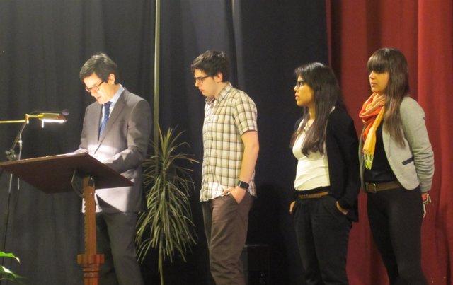 Iribas participando en la lectura pública de 'El Quijote'