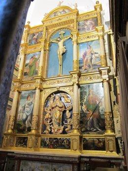 Retablo de la capilla de La Magdalena y Asunción de Nuestra Señora ya restaurada