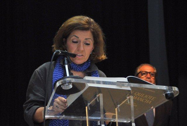 María Jesús Botella durante su lectura del 'Quijote'