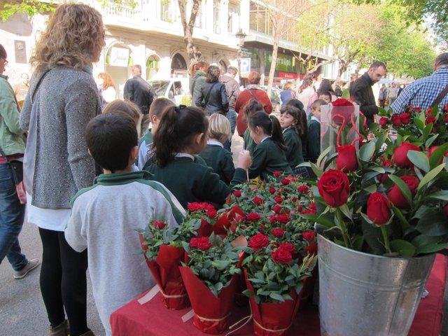 Rambla Catalunya por Sant Jordi