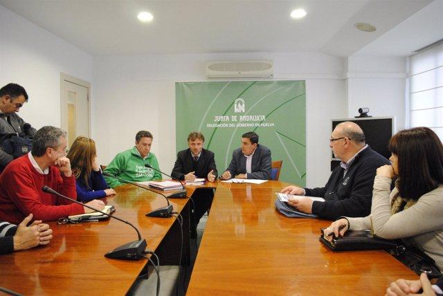 Reunión de la Junta con la junta directiva de Asadipre.