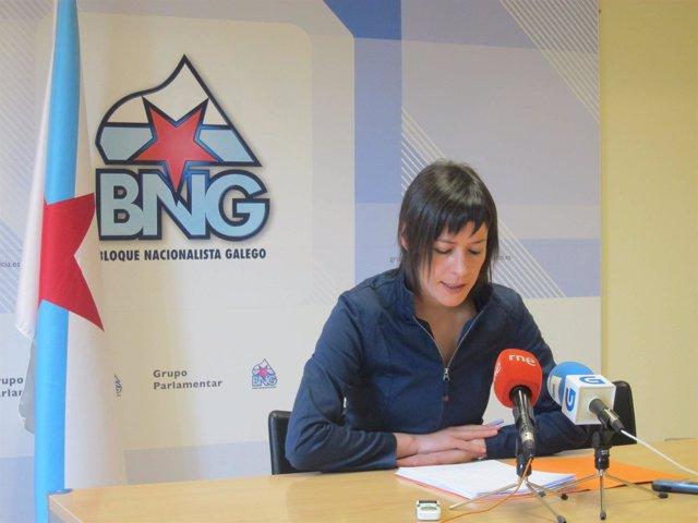 La diputada del BNG, Ana Pontón, en rueda de prensa