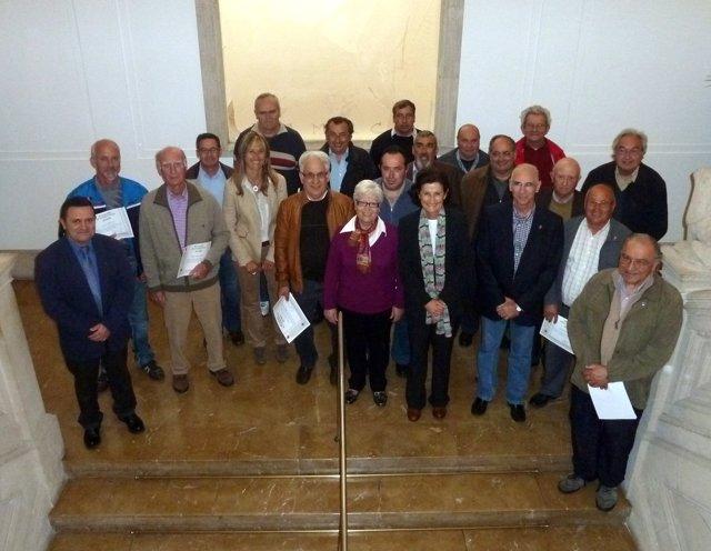 Teresa Palmer en el homenaje de voluntarios del REMER