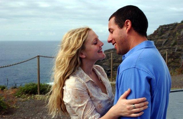 Drew Barrymore y Adam Sandler en 50 primeras citas