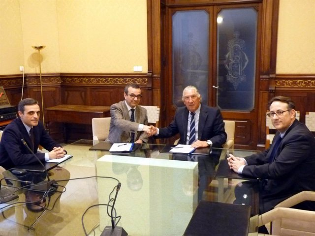 José Vicente Marí, Josep Ignasi Aguiló, Fernando Marqués y Jesús Fernández