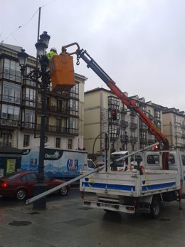 Mantenimiento alumbrado público en Santander