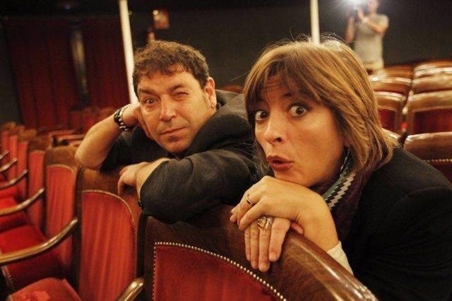 Los actores Jorge Asín y Marisol Aznar.