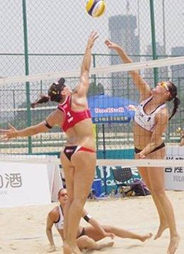 Liliana Fernández Steiner y Elsa Baquerizo en el World Tour de Fuzhou